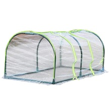 Greenhouse-Ventilated-Plant-Insulation-Cover Home-Tunnel Without-Pole Portable Mobile