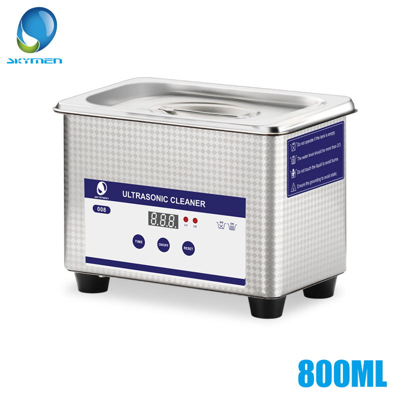 Skymen 800ml Digital Ultrasonic Cleaner Bath Jewelry Metal Parts Cutters Stone Dental Toothbrush PCB Manicure Tool Sonic Cleaner