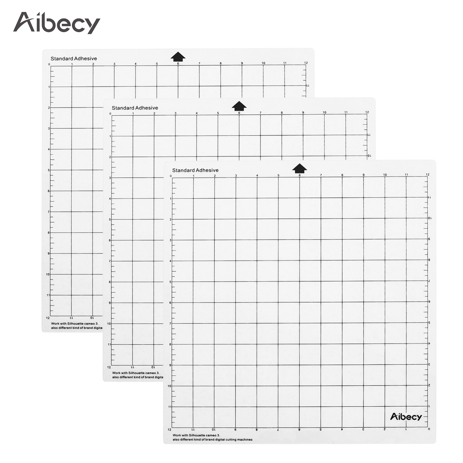 Aibecy Cutting Mat 12 Inch Measuring Grid Repalcement Translucent PP Material Cutting Pad Adhesive Mat DIY Tool Cutting Board
