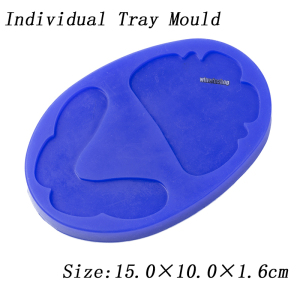 Image 4 - Dental silicone rubber wax rim slim long shape bite block individual tray implant molding mould