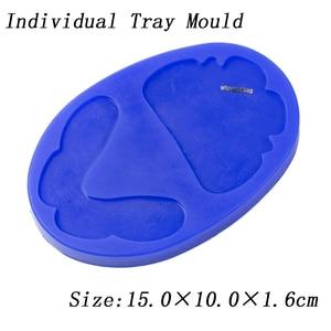 Image 4 - Dental silicone rubber wax rim slim long shape bite block individual tray implant molding mould