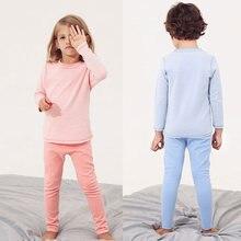 Детские теплые зимние бесшовные бархатные осенние длинные брюки