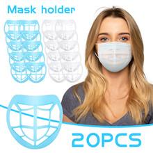 20 sztuk maski na twarz uchwyt usta maska oddzielny wewnętrzny stojak uchwyt oddychanie przestrzeń usta czapki zmywalny Mascarillas uchwyt na zewnątrz tanie tanio CN (pochodzenie) Z tworzywa sztucznego bracket for mask mask bracket holder bracket holder for mask