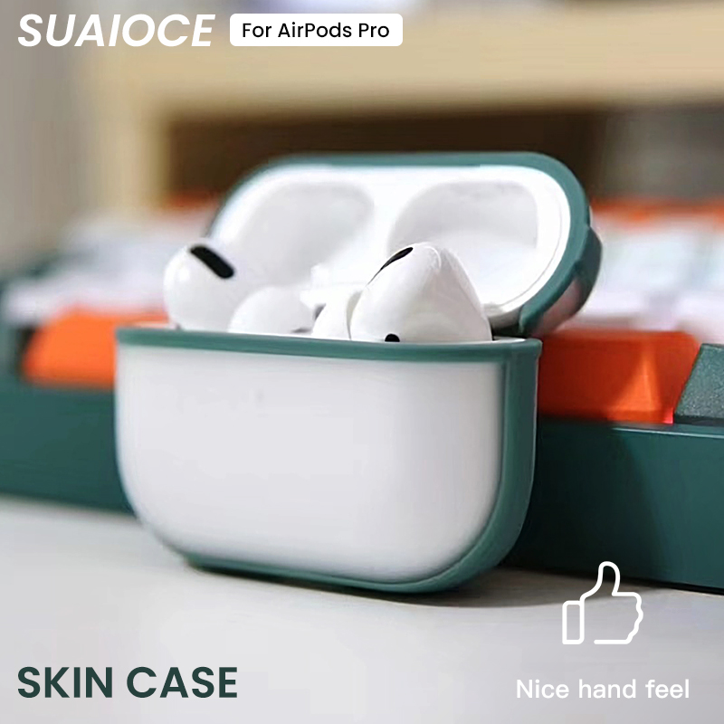 SUAIOCE For Apple AirPods Pro Case Wireless Bluetooth Earphone Case Transparent Case Protective For Airpod 3 Dust Guard Cover