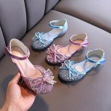 Disney Frozen Baby Girls Shoes Ballet Flat Shoes Casual Glitter Wedding Party Princess Dress Shoes for Girls Elsa Sandals