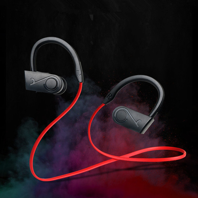 Su geçirmez alev kablosuz kulaklık Bluetooth spor kulaklık gürültü iptal kulaklık mikrofon için iphone X Xiaomi Andriod için