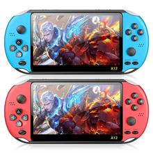 X12 5.1 inch Handheld Game Video Player 8G LED Screen Built-in 2500 Games X12PLUS Retro Consoles Support TF Card