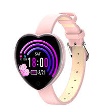 T52 Women Smart Watch Heart Rate tracker Monitor blood pressure Blood Oxygen Smart Band Weather Wristband Lovely Bracelet(China)