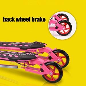 Image 5 - Katlanır çocuklar scooter 3 tekerlekli, taşınabilir 2 pedallı Scooter üç tekerlekli bisiklet, makas scooter ayarlamak yükseklik, pu tekerlek çocuk scooter