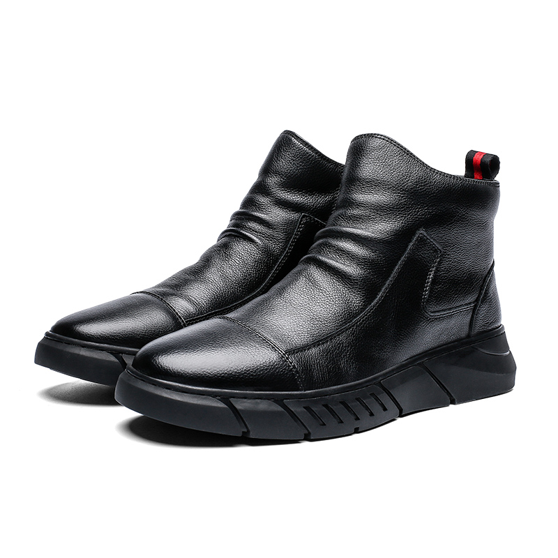 Brand New Autumn Winter soft Leather Casual Shoes Warm Plush Snow Boots Fashion Ankle Boots Working