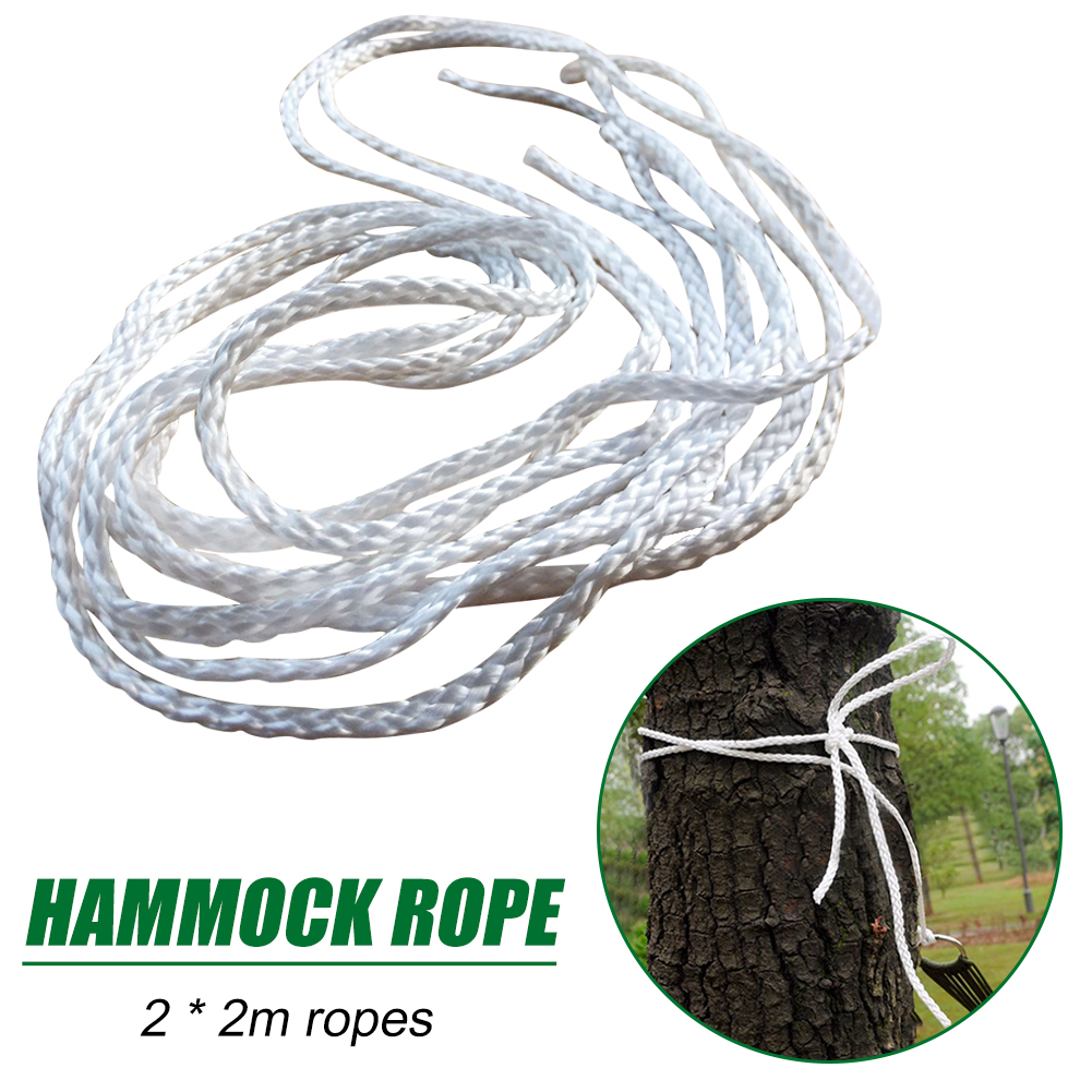 Hammock Tied Rope Tree Hanging Swing Chair Bed Park 2pcs 2m Outdoor Camp Strap for Home Yard Relaxation Ornaments