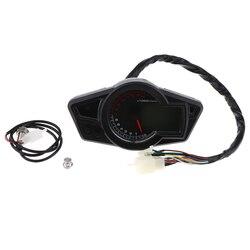 Uniwersalny 12V LED prędkościomierz obrotomierz przebieg  LCD Gauge  motocykl wielofunkcyjny miernik
