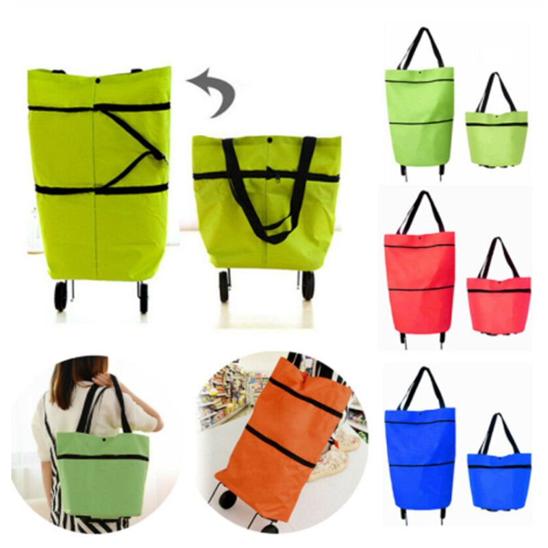 Newest Women Foldable Shopping Bag Reusable Eco Large Unisex Fabric Non-Woven Shoulder Bags Grocery Cloth Bags Pouch