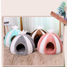 Pet bed for Cats Dogs Soft Nest Kennel Bed Cave House Sleeping Bag Mat Pad Tent Pets