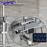 Vender https://ae01.alicdn.com/kf/H99fb6608a68e49678529120ac1290f58W/Juego de ducha cromado Senducs juego de ducha termostática de latón de calidad juego de ducha.jpg