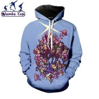 Mamba top Men Hooded Anime JoJo Bizarre Adventure Hoodies 3D Breathable Clothing JOJO Men's Hoody Camping Women Black Sweatshirt - discount item  25% OFF Hoodies & Sweatshirts