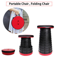 Folding Chair Telescopic Retractable Stool Picnic Space-Saving Fishing-Traveling Outdoor