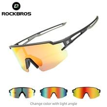 Rockbros ciclismo óculos polarizados óculos de bicicleta miopia quadro uv400 esportes ao ar livre óculos de sol