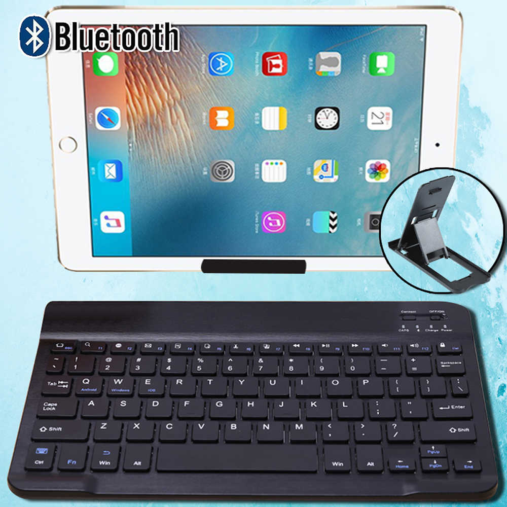 "Keyboard Nirkabel Keyboard Bluetooth untuk Apple Ipad 2017/2018/2019/Ipad 1234/Air 2 3/pro 9.7 ""10.5"" 11 ""Tablet Keyboard + Bracket"