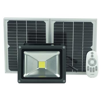 Solar Flood Light 20W solar light wateproof Garden light with  2.4G Remote Control floodlight dimmable Reflector-Spot Floodlig