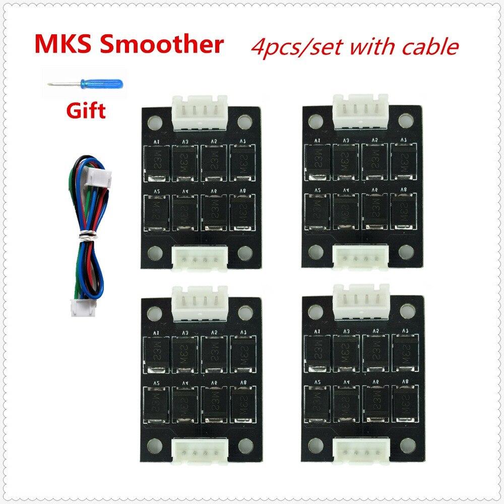 3d Printer Addons MKS Smoother Filter 4pcs Stepper Eliminator Damper Stabilizer Diode Breakout Board Stepper Driver Absorber