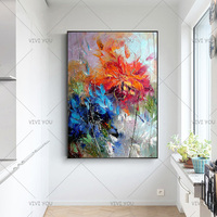 Abstract Wall Art Handpainted Oil Painting Beautiful Abstract Oil Paintings on Canvas Modern Art flower Pictures Home Decoration