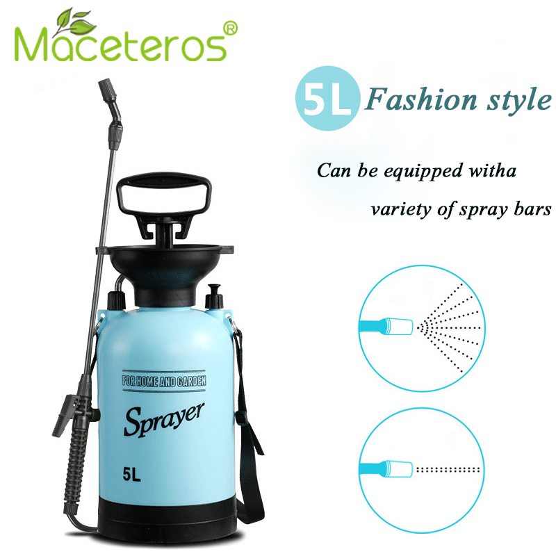 MACETEROS 5L Sky Blue Shoulder Type Sprayer High Pressure Sprayer Manual Air Pump Sprayer Agricultural Gardening Car Wash Series