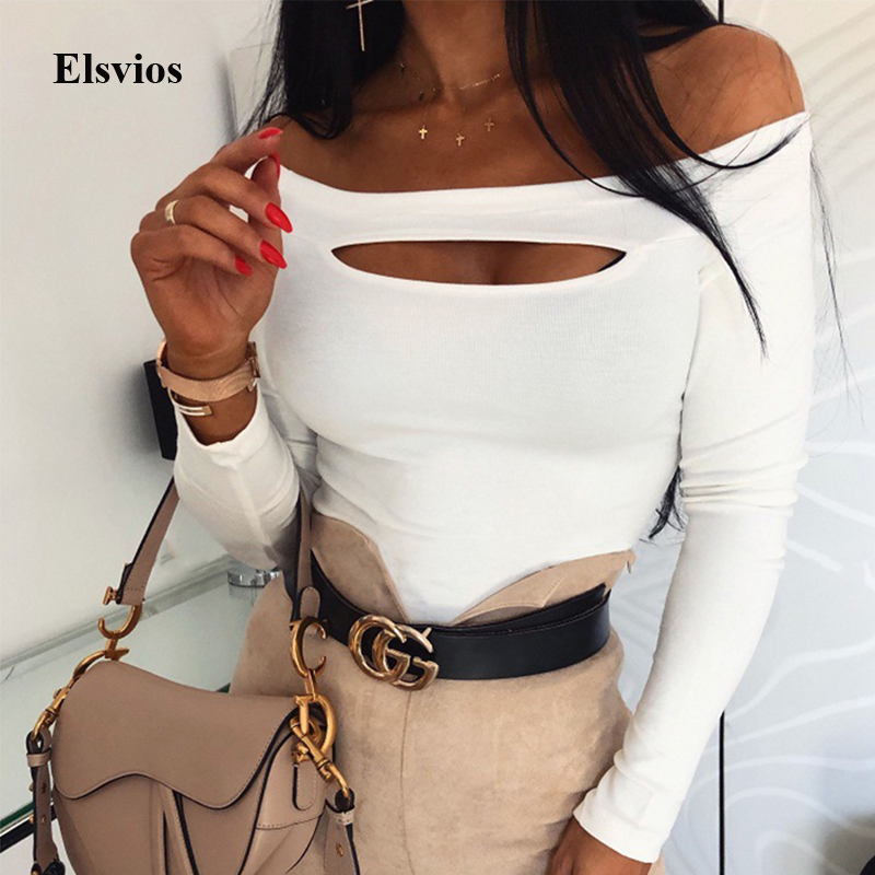New Spring Cut Off Patchwork Blouse Women Sexy Hollow Out O Neck Shirt Blouses Elegant Autumn Lady Long Sleeve Ribbed Tops Blusa
