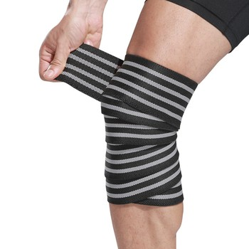 1Pcs Knee Support Protector Leg Arthritis Injury Gym Spring Fitness Elasticated Bandage Knee Pad Charcoal Knitted Kneepads Warm