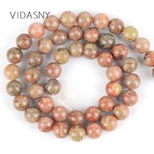Natural Unakite Stone Round Loose Beads Spacer For Jewelry Making Diy Bracelet Necklace 4/6/8/10/12mm 15 Wholesale