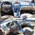 Автомобильный Стайлинг из углеродного волокна  Автомобильный интерьер  центральная консоль  изменение цвета  формовочные наклейки  наклей...