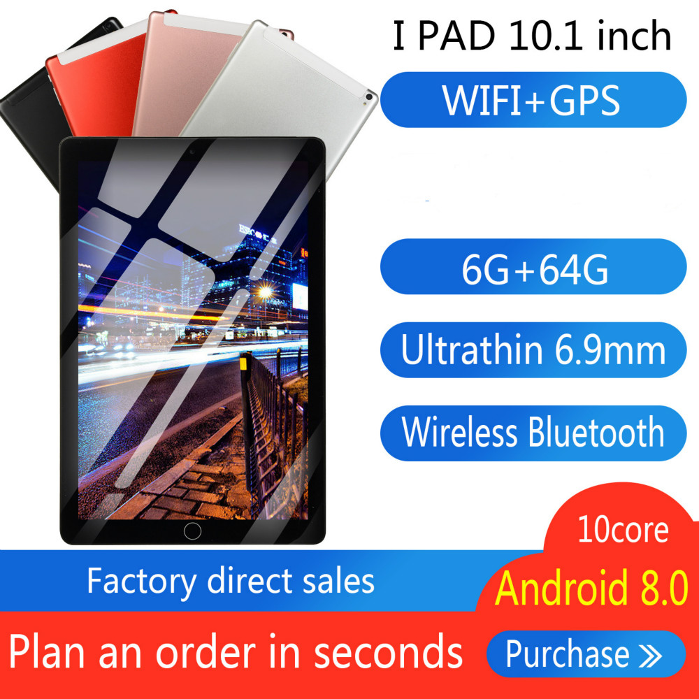 2020 Brand New 10 Inch Eight Core 6G + 64G  Android 8.0 Dual Card Dual Camera Rear WiFi Call Mobile Phone Tablet WiFi Call