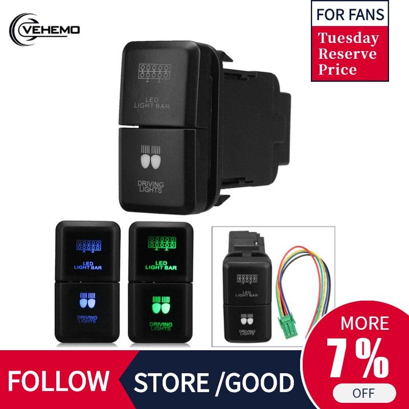 Прочный переключатель бар переключатель вождения бар Push ABS черный практичный Универсальный светодиодный светильник переключатель бар для TOYOTA Hilux Prado