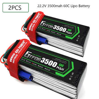 GTFDR Lipo battery 22.2V 3500MAH 60C-120C AKKU 6S LiPo Battery Deans For truck fpv drone Rc Helicopter Boat 1/8 off road car
