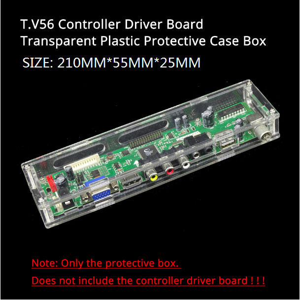 LED/LCD controller driver board transparent Acrylic protective box case For our M.NT68676 TV 2AV EDP controller driver board 4
