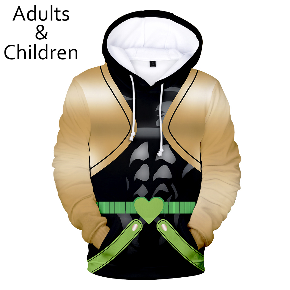 3D JOJO's fantastic adventure character suit Hoodies men women Harajuku Hip Hop Hoodie boys girls Autumn 3D JOJO Kids pullovers