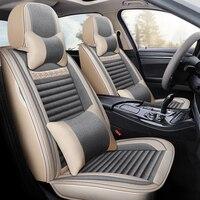 Full Coverage flax fiber car seat cover auto seats covers for hyundai genesis equus creta ix25 tucson ix35 santafe