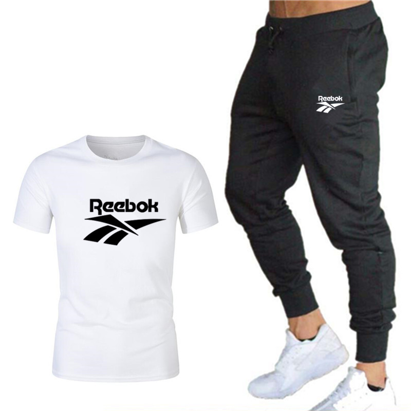 Summer New Fashion Trend Men's Suits Personality Fashion Printing Sports Short-Sleeved T-Shirt + Sport And Leisure Trousers Suit