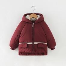Детские пуховики и парки зимняя верхняя одежда для детей от 4 до 10 лет Повседневная теплая куртка с капюшоном для мальчиков и девочек, теплые пальто для девочек