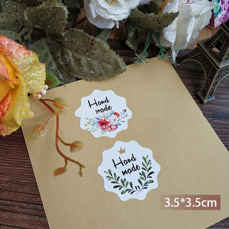 5Sheets=30Pcs Sealing Label Stickers Thank You Adhesive Stickers Handmade Paper Stickers For Gifts Girls Flowers Stickers