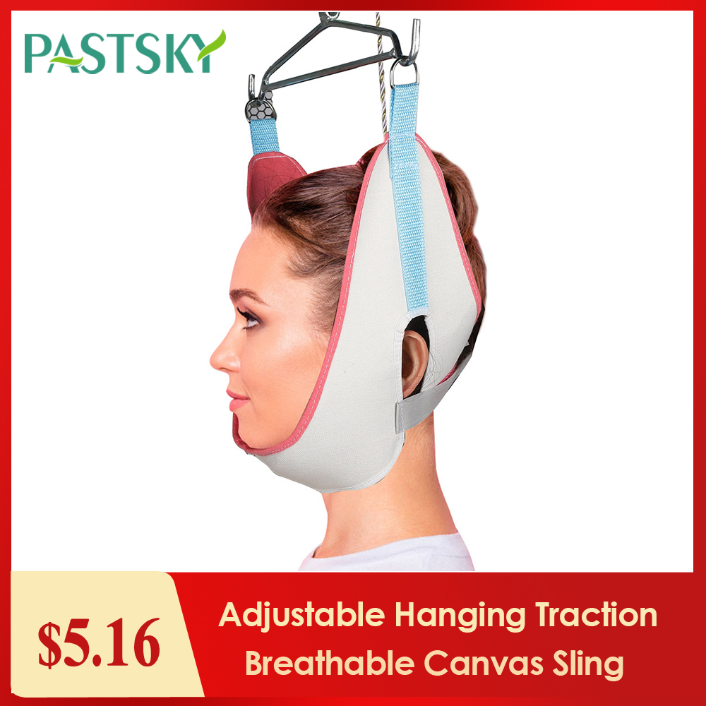 Adjustable Hanging Cervical Traction Belt Breathable Canvas Sling Tractor Stretch Neck Care Medical Chiropractic Pain Relief()