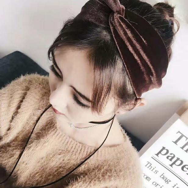 Ferramentas de Estilo do Cabelo Lote Faça Você Mesmo Simples Multi Pleuche Cruz Cabeça Faixas Elasticidade Puro Colore Headbands Acessório Ha1614 60 Pçs –