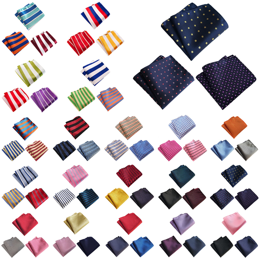 3 Packs Men Stripe Candy Color Pocket Square Handkerchief Wedding Party Hanky HZTIE0371