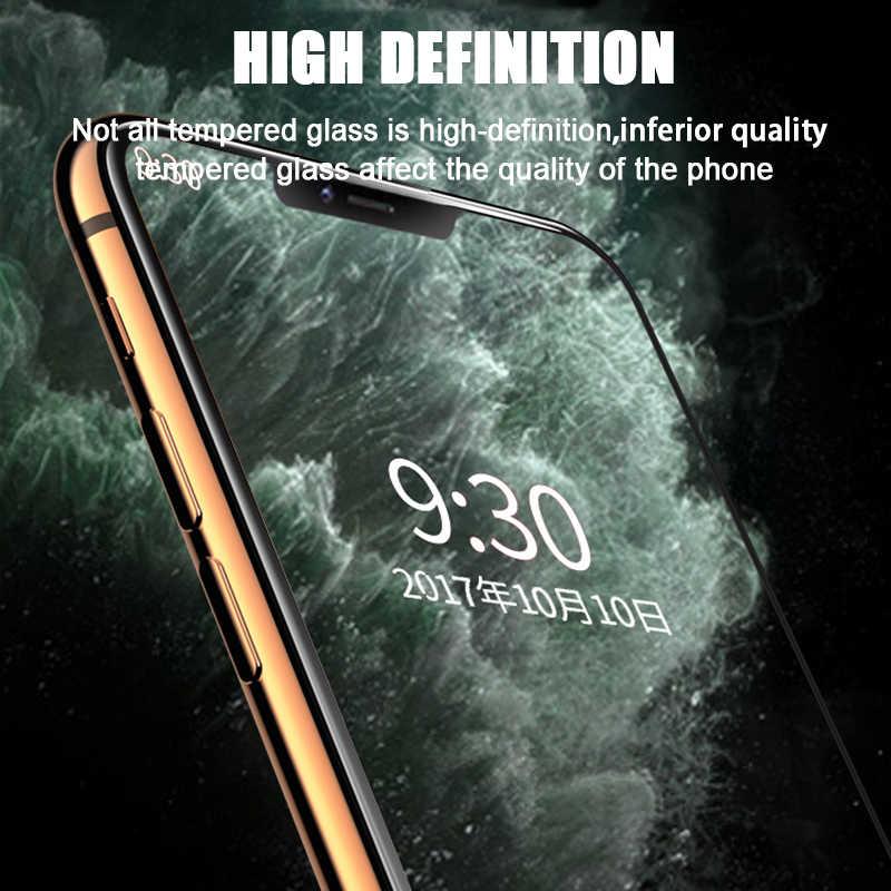 3Pcs Tempered Glass Di UNTUK iPhone 11 Pro XS Max X XR SE Pelindung Layar untuk iPhone 7 8 6 6S Plus Pelindung Film