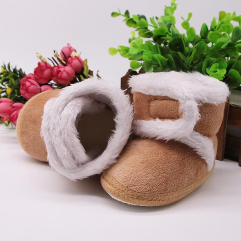 Chaud nouveau-né enfant en bas âge bottes hiver premiers marcheurs bébé filles garçons chaussures semelle souple fourrure neige chaussons pour 0-18M 2