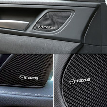 4 шт. 3D алюминиевый динамик стерео динамик значок-эмблема Стикеры для Mazda 2 3 мс для Mazda 6 CX-5 CX5 аксессуары