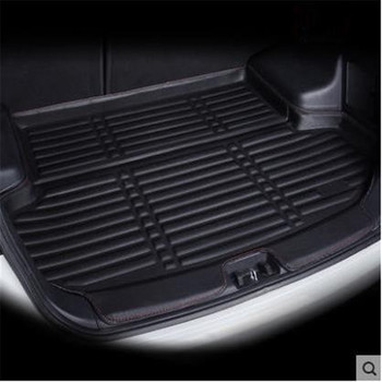 for Peugeot 301 2012-2019 Car-styling Car Rear Boot Liner Trunk Cargo Mat Tray Floor Carpet Mud Pad Protector for lada largus 2012 2018 trunk mat floor rugs non slip polyurethane dirt protection interior trunk car styling