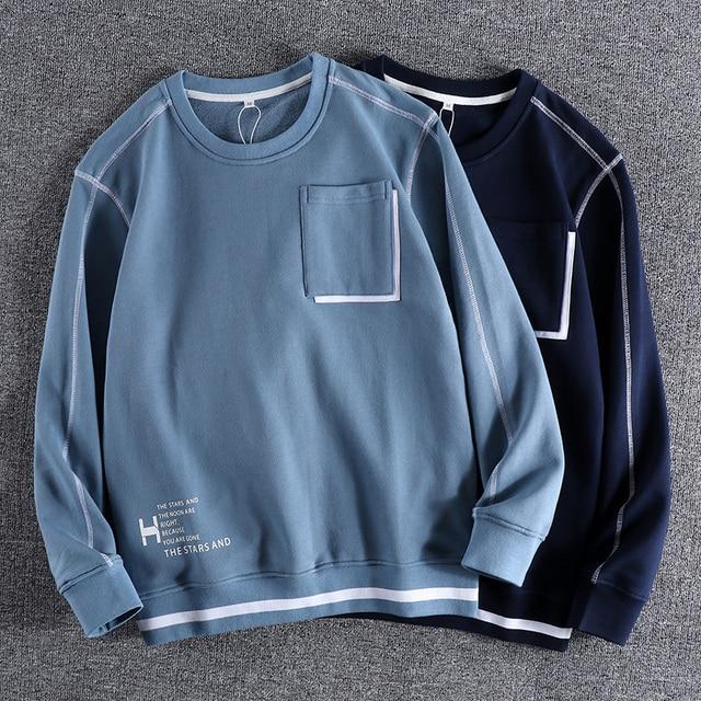 Фото новинка осень зима 2020 мужские модные простые толстовки с буквенным цена