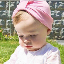 9 Colors Baby girs Milk Silk Knot Bohemian Stlye Caps Fashion Simple Style Child Ears Cover Hats Children Indian Hat