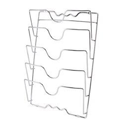 HIPSTEEN 5 poziomów drzwi kuchenne naścienny żeliwna patelnia pokrywka stojak z pokrywą stojak kuchenka organizator półka do przechowywania akcesoria kuchenne